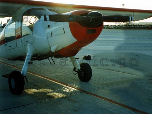 Kleinflugzeug Flughafen Lanzarote.