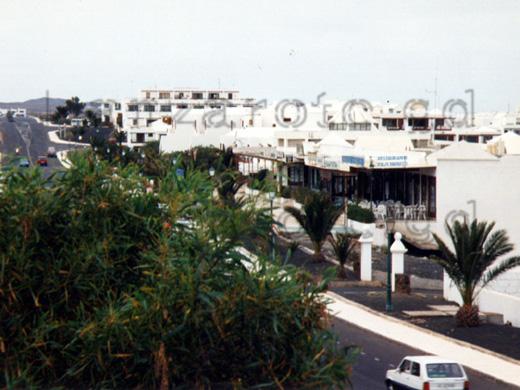 Taxistand in der Nähe der Ferienanlage Los Molinos an der Costa Teguise.