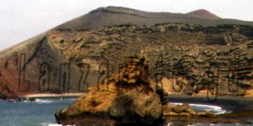 Kraterrand des erloschenen Vulkans bei El Golfo