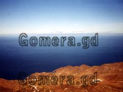 La Gomera, Aussicht über das Valle, Blick vom Nationalpark de Garajonay in Richtung La Palma.