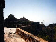 La Gomera, Balkon vor dem Restaurant El Mirador.