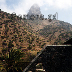 La Gomera, erstarrte Lava des Vulkans Roque Agando.