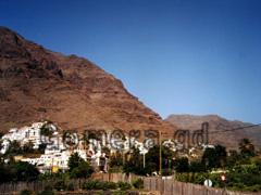 La Gomera, Ansicht von La Calera im Valle Gran Rey.