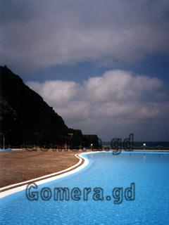 La Gomera, Hotelpool in Hermigua.