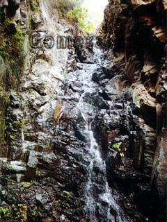 La Gomera, Wasserfall El Guro im Valle Gran Rey.