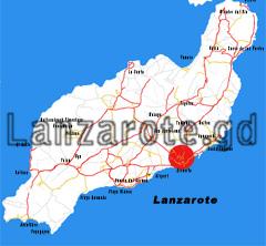 Lanzarote Übersichtskarte, Arrecife