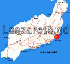 Lanzarote Karte Costa Teguise