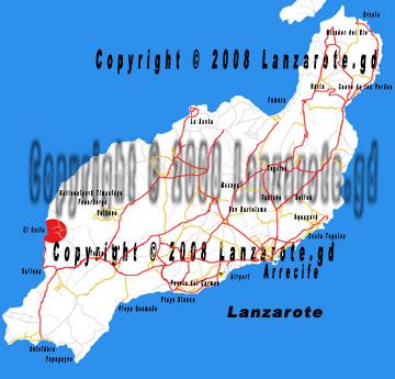 Karte El Golfo auf Lanzarote