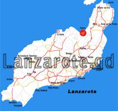 Lage von Famara auf der Karte.