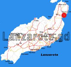 Lanzarote Karte Jameos del Agua