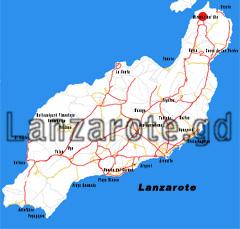 Lanzarote Karte, Mirador del Rio