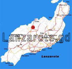 Lanzarote Übersichtskarte, Tinayo