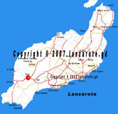 Lanzarote Yaiza Karte