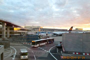 La Palma Anreise, das Bild zeigt unseren Flieger vor dem Terminal in Frankfurt am Main.