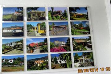 Fincas auf der Kanareninsel La Palma in Spanien die man als Immobilien kaufen kann/konnte, Stand 06. März 2014 wie man auf dem Bild der 16 Fincas im Angebot sehen kann.
