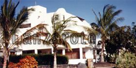 Ferienanlage auf der Kanarischen Insel Lanzarote.