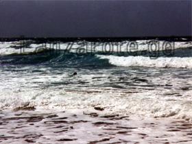 Schwimmer in der Bucht von Famara.