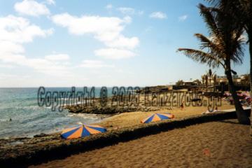 Lanzarote Strand Playa Bastian an Costa Teguise