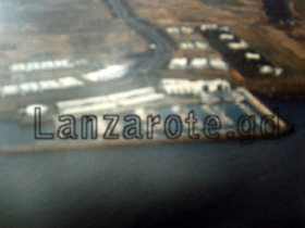 Luftbild Yachthafen Puerto Galero, Kanarische Insel Lanzarote.