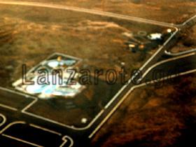 Luftbild vom Aquapark auf Lanzarote.