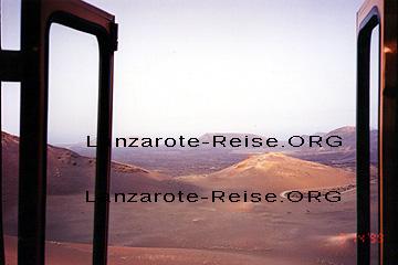 Lanzarote Timanfaya, Foto mit den Türen vom Bus